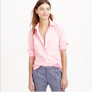 J.Crew Pink Slim Fit Button Down Blouse